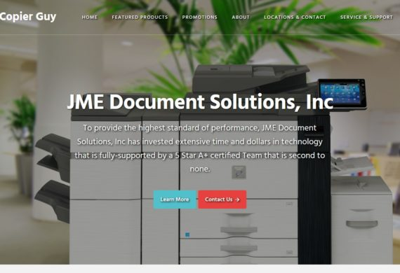 Example of B2B website by RocklandWeb - JME Document Solutions