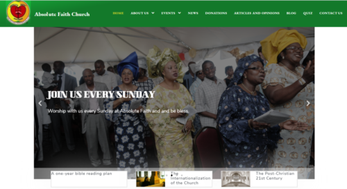 Example of Charity website by RocklandWeb | Absolute Faith Church
