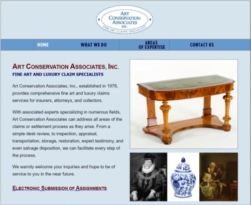 Example of Social website by RocklandWeb | Art conservation associates