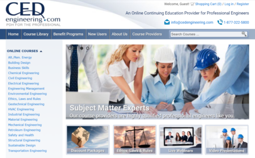 Example of Education website by RocklandWeb | CED Engineering