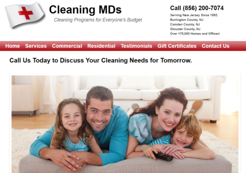Example of Business website by RocklandWeb | Cleaning MDs
