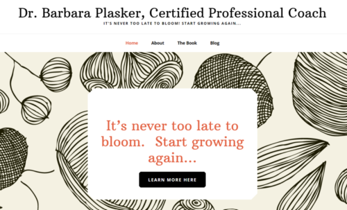 Example of Education website by RocklandWeb | Dr. Barbara Plasker, Certified Professional Coach