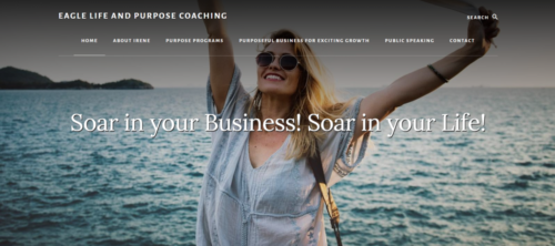 Example of Education website by RocklandWeb | Eagle life and purpose coaching