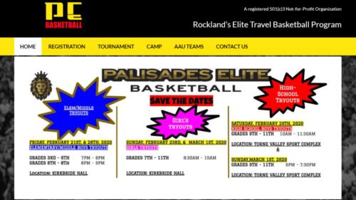 Example of Business website by RocklandWeb | Elite basketball program