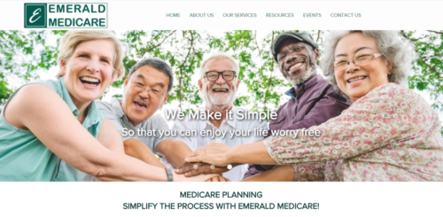 Example of Business website by RocklandWeb | Emerald Medicare