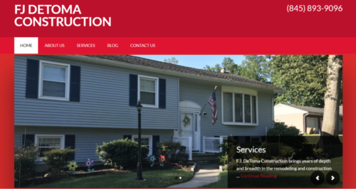 Example of Business website by RocklandWeb | FJ Detoma Construction