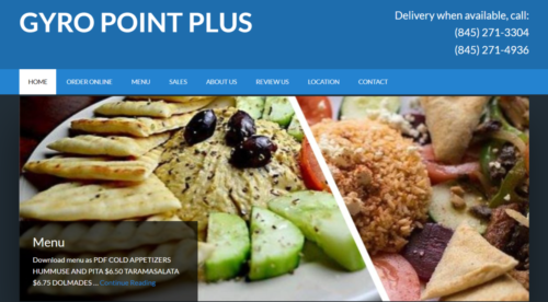 Example of Business website by RocklandWeb | Gyro Point Plus