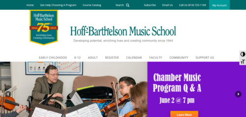 Example of Education website by RocklandWeb | Hoff-Barthelson Musical School