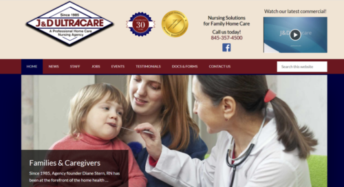 Example of Business website by RocklandWeb | J & D Ultra Care
