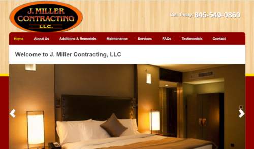 Example of Business website by RocklandWeb | J Miller Contracting LLC