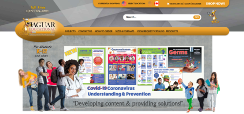 Example of Education website by RocklandWeb | Jaguar Educational