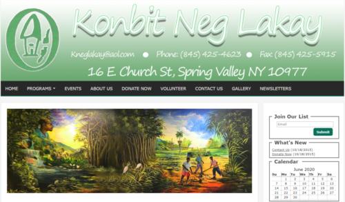 Example of Charity website by RocklandWeb | Konbit Neg Lakay