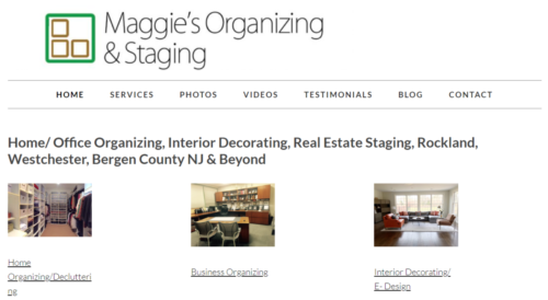 Example of Business website by RocklandWeb | Maggies organizing and staging