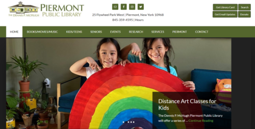 Example of Social website by RocklandWeb | Piermont Public Library