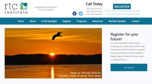 Example of Education website by RocklandWeb | Rockland Teachers' Center