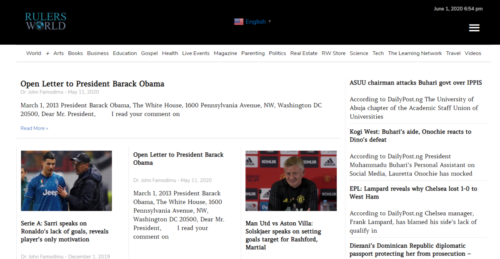 Example of News website by RocklandWeb | Rulers World
