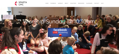 Example of Charity website by RocklandWeb | SPARTA UMC