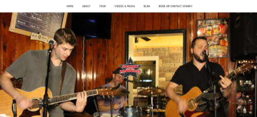 Example of Business website by RocklandWeb | Spanky and the radicals