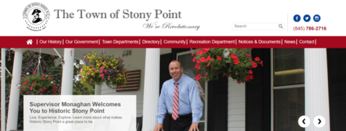 Example of Municipal website by RocklandWeb | Town of Stony Point