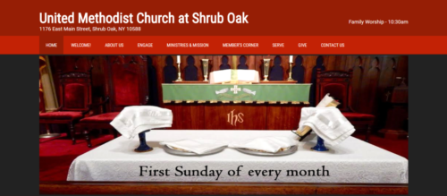Example of Charity website by RocklandWeb | United Methodist Church