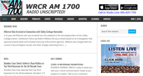 Example of News website by RocklandWeb | WRCR
