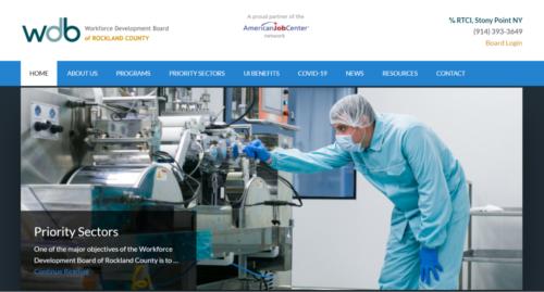 Example of Municipal website by RocklandWeb | Workforce Development Board