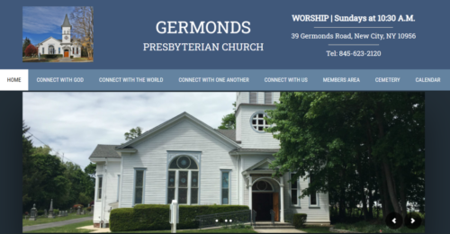 Example of Charity website by RocklandWeb | germondschurch-org