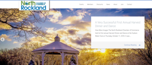 Example of Business website by RocklandWeb | north chamber of commerce