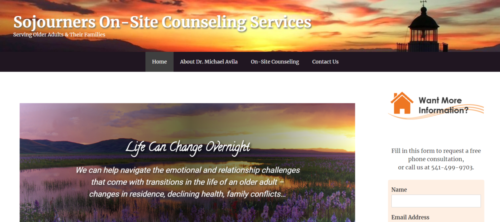 Example of Social website by RocklandWeb | sojourners onsite counseling