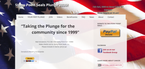 Example of Charity website by RocklandWeb | stonypointseals